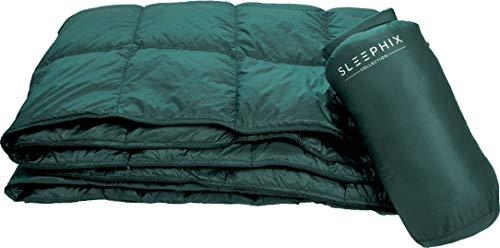 SLEEPHIX Daunen Outdoor Camping Decke   Wasserabweisend   Nylon Hülle mit Daunenfüllung   Ideal für Camping, Flugzeugreisen, Segeln, Terrasse und Heimnutzung   Füllkraft: 650